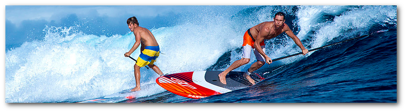 Personal surf paddle board demo before you buy.