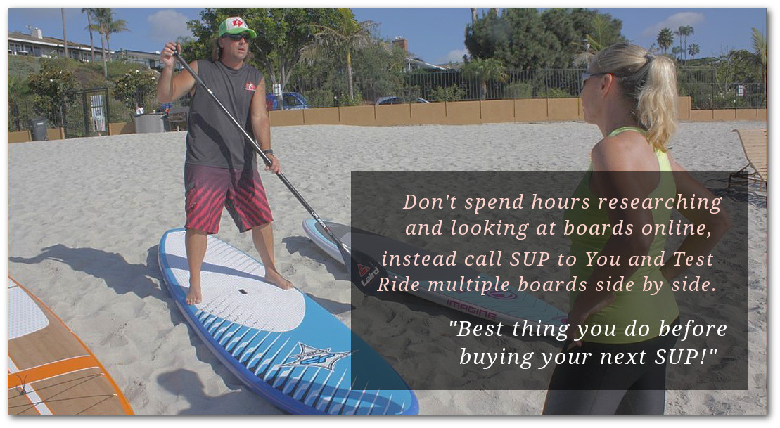 Private demo for multiple paddle board test ride at a beach near you.