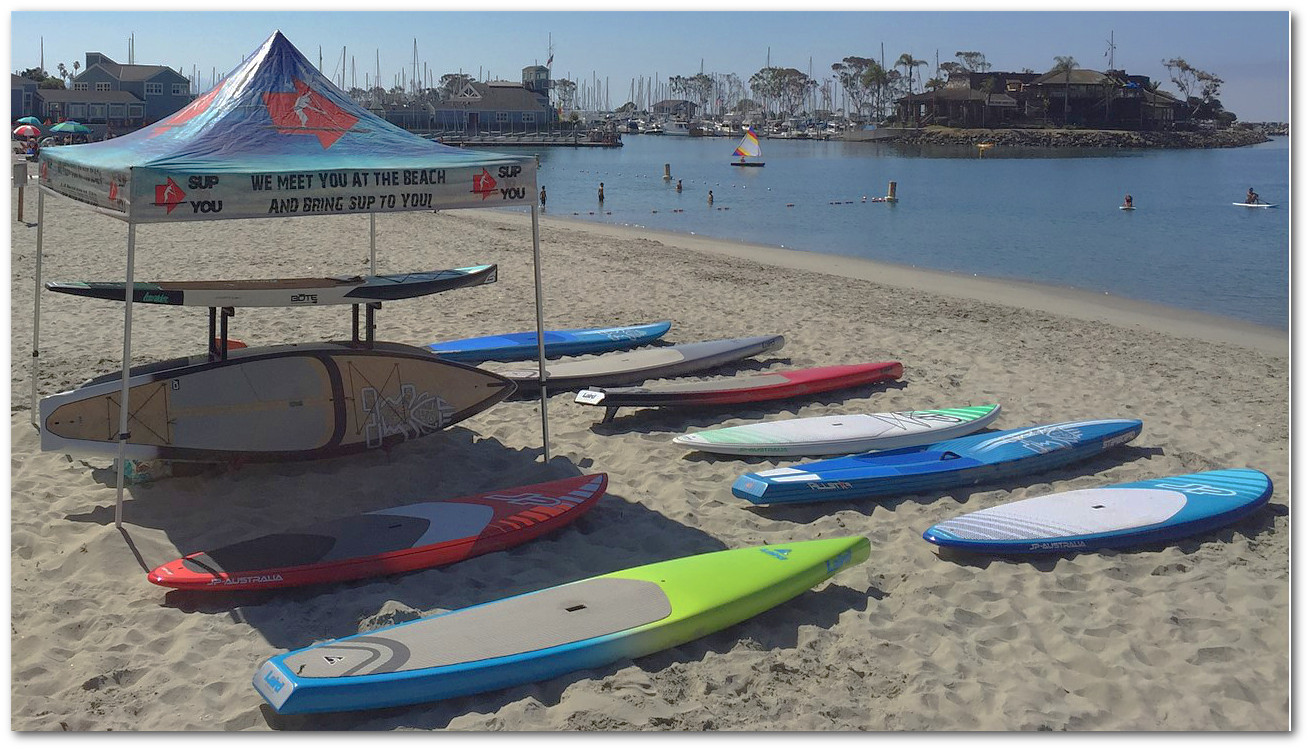 SUP to you weekly demo days at Baby Beach in Dana Point California